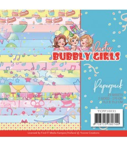 BLOC 23 FEUILLES 15 X 15 CM - BUBBLY GIRLS PARTY YCPP10031