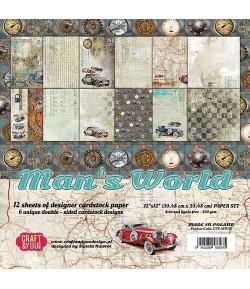 BLOC 12 FEUILLES 30.5 X 30.5 CM -  MAN'S WORLD