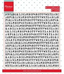 TAMPON LETTRES TYPEWRITER - MARIANNE DESIGN