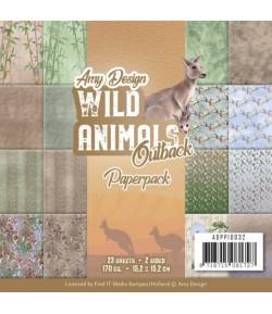 BLOC 23 FEUILLES 15 X 15 CM - WILD ANIMALS OUTBACK ADPP10032