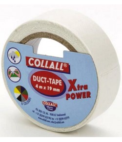 ROULEAU TAPE BLANC - 19 MM X 4 M