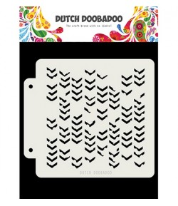 POCHOIR  GRUNGE CHEVRONS - DUTCH DOOBADOO