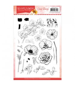 TAMPONS TRANSPARENTS DELICATE FLOWERS PMCS10044