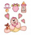 FEUTRINE BABY GIRL 14  X 20.5 CM - 1 MM
