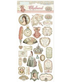 CHIPBOARD PRINCESS 15X30 - DFLCB07