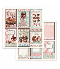 PAPIER MINI CHOCOLATE CARDS 30 X 30 CM - SBB738 STAMPERIA