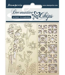 FORMES CARTON FLOWERS AND TALE 9.5 X 9.5 CM - SCB02