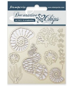 FORMES CARTON COQUILLAGES 14 X 14 CM - SCB12