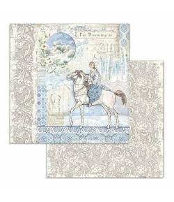 PAPIER HORSE 30 X 30 CM - SBB719 STAMPERIA