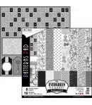 BLOC 8 FEUILLES EVERGREEN CLASSIC BLACK AND WHITE 30.5X30.5CM CBTE001
