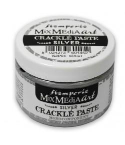 PATE CRAQUELE - CRACKLE PASTE MONOCOMPOSANT ARGENT 150ML