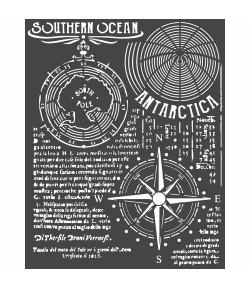 POCHOIR SOUTHERN OCEAN 20X25 EP 0.25 KSTD055 STAMPERIA
