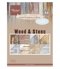 BLOC A4 WOOD & STONE - MARIANNE DESIGN - PK9170