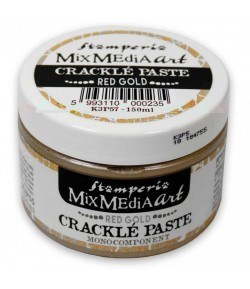 PATE CRAQUELE - CRACKLE PAST MONOCOMPOSANT OR ROUGE 150ML