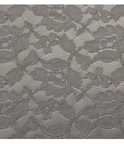 SIMILI CUIR  DENTELLE PLATINE - 50 X 70 CM