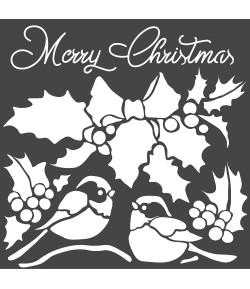 POCHOIR MERRY CHRISTMAS 18 X 18 CM - KSTDQ46