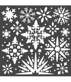 POCHOIR SNOWFLAKES 18 X 18 CM - KSTDQ49