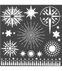 POCHOIR STARS 18 X 18 CM - KSTDQ50