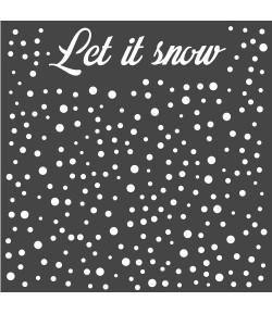 POCHOIR LETS SNOW 18 X 18 CM - KSTDQ52