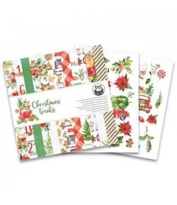 BLOC 24 FEUILLES 15 X 15 CM CHRISTMAS TREATS - PIATEK