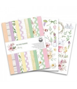 BLOC 24 FEUILLES 15  X 20 CM  THE FOUR SEASONS SPRING  - PIATEK