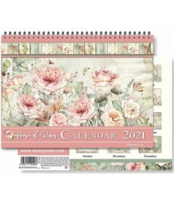 CALENDRIER HOUSE OF ROSES STAMPERIA ECL2107