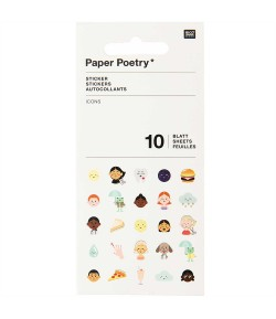 STICKERS MIX PETITS SUJETS 10 FEUILLES