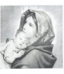 SERVIETTE LA FEMME ET L'ENFANT