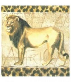 SERVIETTE LION DEBOUT