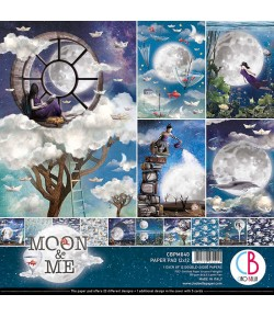 BLOC 12 FEUILLES MOON AND ME CIAO BELLA 30X30CM CBPM040