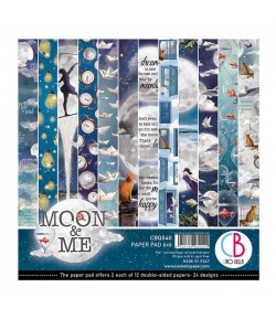 BLOC 8 FEUILLES MOON AND ME BELLA 30X30 CM CBT040