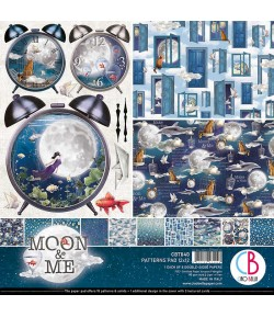 BLOC 24 FEUILLES MOON AND ME CIAO BELLA 15X15 CM CBQ040
