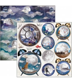 PAPIER MOON AND ME CLOCK SNOWBALLS CIAO BELLA 30.5X30.5CM CBSS133