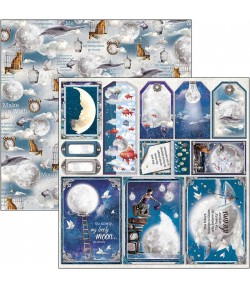 PAPIER MOON AND ME FRAME AND TAG SNOWBALLS CIAO BELLA 30.5X30.5CM CBSS134