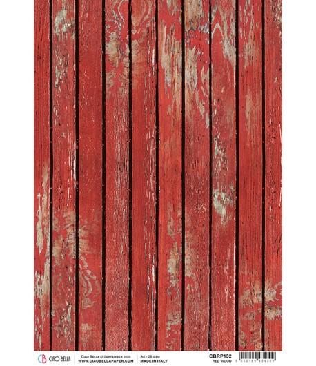 PAPIER DE RIZ RED WOOD 21 X 29.7CM CBRP132