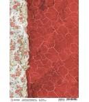 PAPIER DE RIZ FROZEN ROSES ANCIENT RED 21 X 29.7CM CBRP134