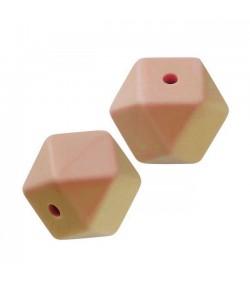 3 PERLES HEXAGONALE  EN SILICONE 14 MM - PECHE