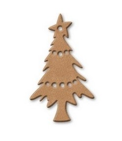 PLAQUE SAPIN EN MEDIUM 6X10CM
