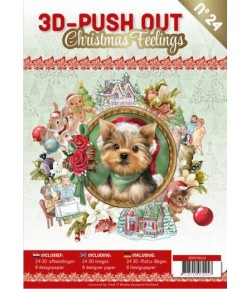 BLOC 3D A4 + PAPIERS -  CHRISTMAS FEELINGS N°24