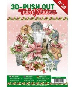 BLOC 3D A4 + PAPIERS -  TOUCH OF CHRISTMAS N°23