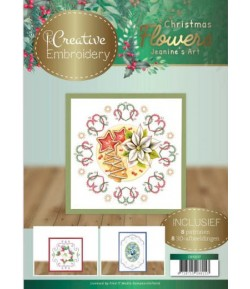 LIVRET CADRES A BRODER ET MOTIFS 3D CHRISTMAS FLOWERS
