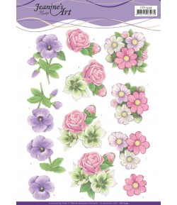 FEUILLE 3D SUMMER FLOWERS - CD11334