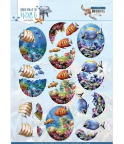 FEUILLE 3D SALTWATER FISH - CD11498