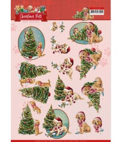 FEUILLE 3D CHRISTMAS PETS - TREE - CD11527
