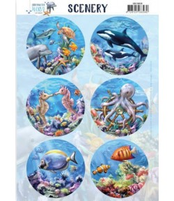 FEUILLE UNDERWATER WORLD - SEA WORLD - CDS10029