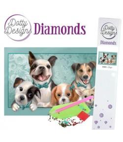 KIT DIAMOND PAINTING PETITS CHIENS 29.7X42CM