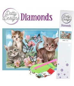 KIT DIAMOND PAINTING PETITS CHATS 29.7X42CM