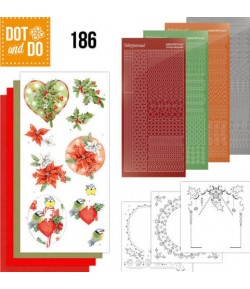 KIT 3D DOT RED HOLLY BERRIES - 186