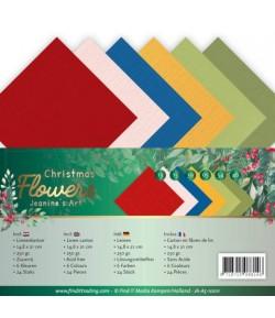 24 FEUILLES A5 250GR -  CHRISTMAS FLOWERS 10011