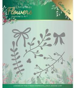 DIES CHRISTMAS FLOWERS MISTELTOE - JAD10106